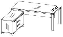 Стіл з тумбою 83СТ01